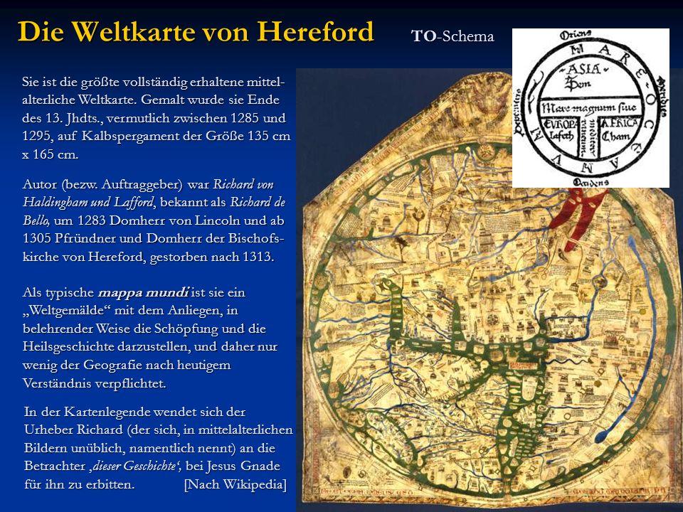 Die Weltkarte von Hereford