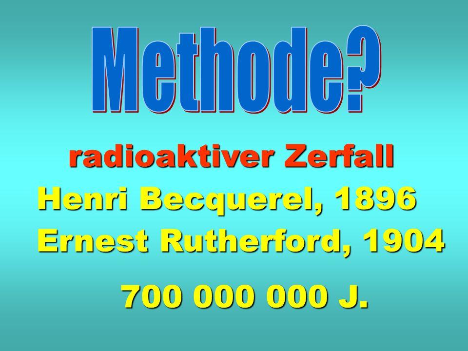 Methode radioaktiver Zerfall Henri Becquerel, 1896