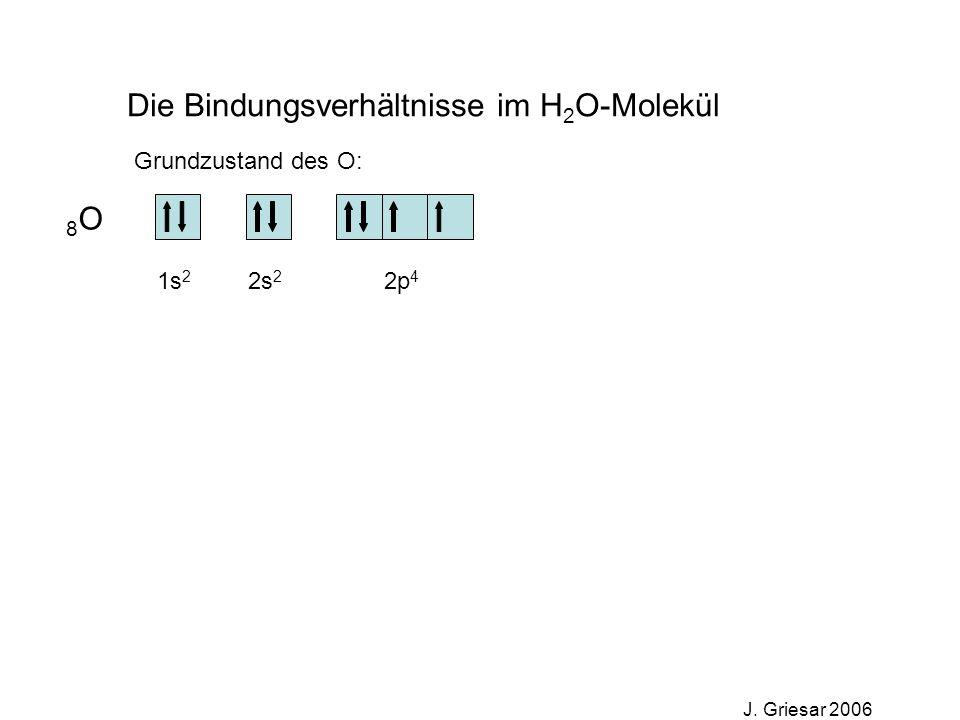 Die Bindungsverhältnisse im H2O-Molekül