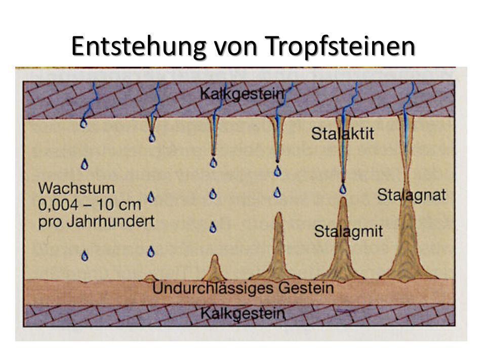 Entstehung von Tropfsteinen