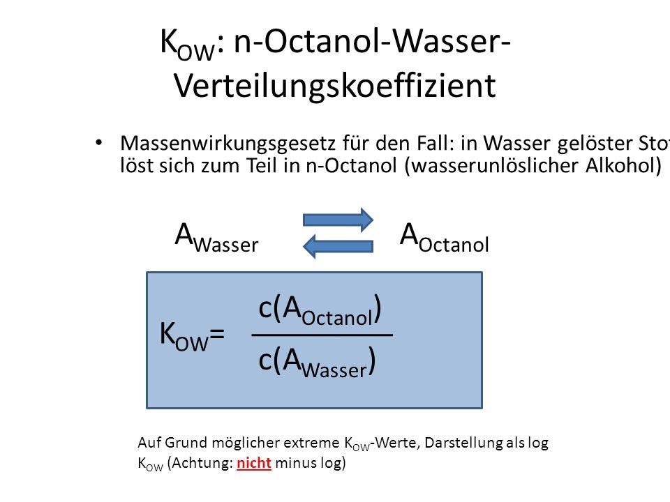 KOW: n-Octanol-Wasser-Verteilungskoeffizient