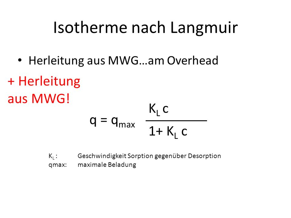Isotherme nach Langmuir