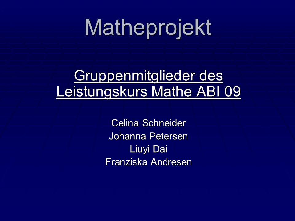 Gruppenmitglieder des Leistungskurs Mathe ABI 09