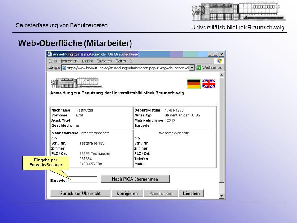 Eingabe per Barcode-Scanner
