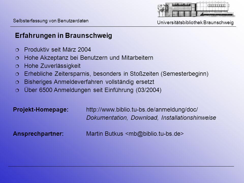 Erfahrungen in Braunschweig