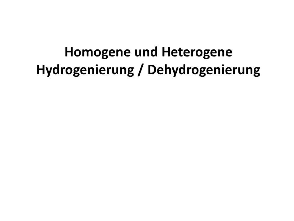 Homogene und Heterogene Hydrogenierung / Dehydrogenierung