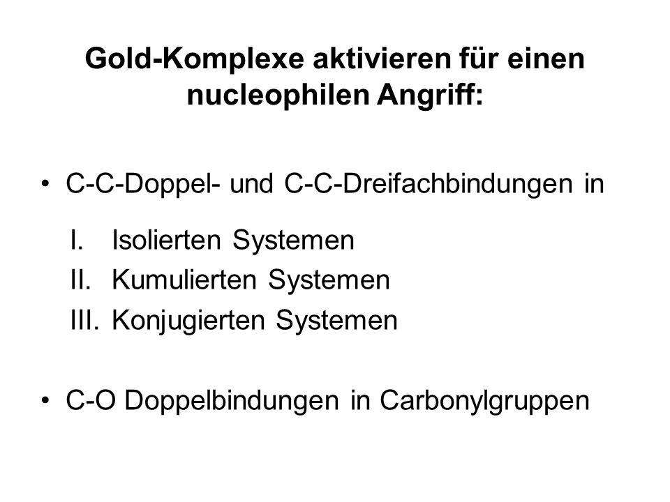 Gold-Komplexe aktivieren für einen nucleophilen Angriff: