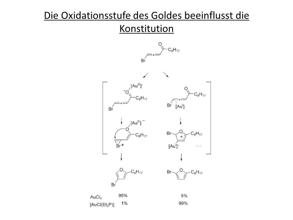 Die Oxidationsstufe des Goldes beeinflusst die Konstitution