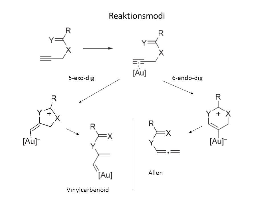 Reaktionsmodi 5-exo-dig 6-endo-dig Allen Vinylcarbenoid