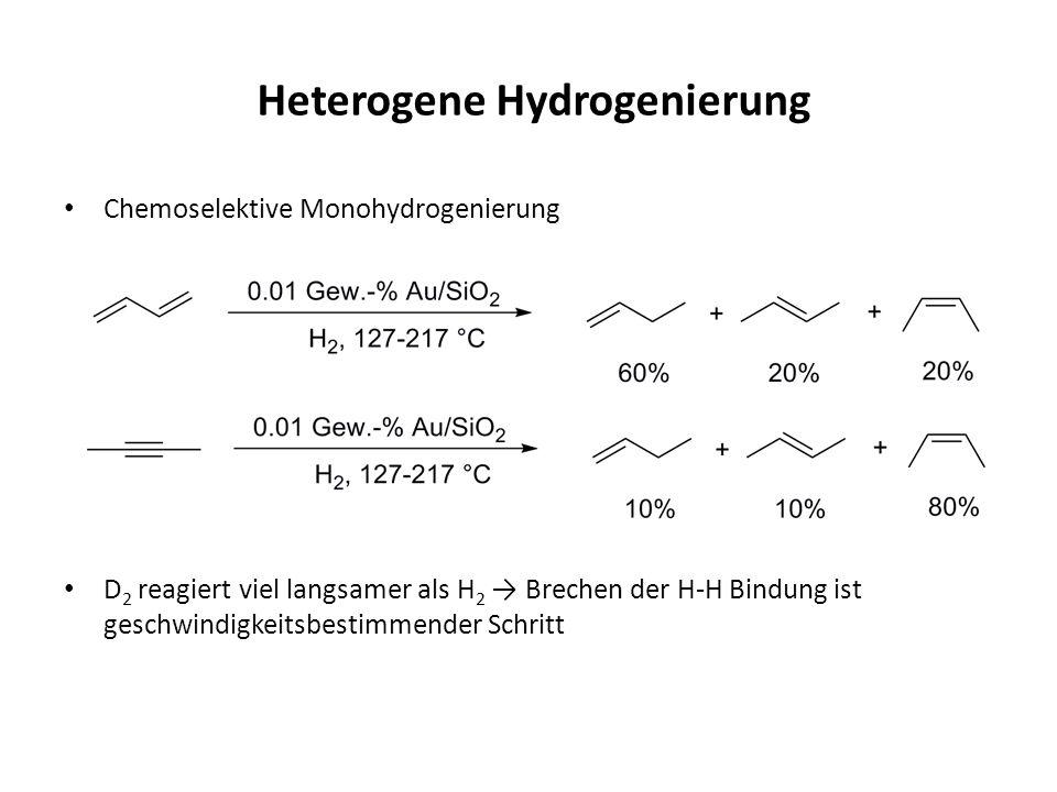 Heterogene Hydrogenierung