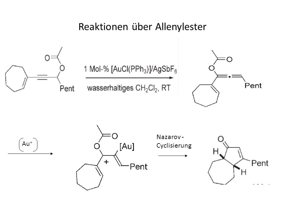 Reaktionen über Allenylester