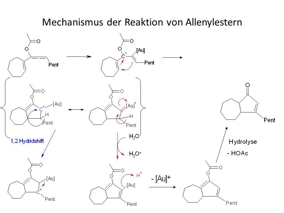 Mechanismus der Reaktion von Allenylestern
