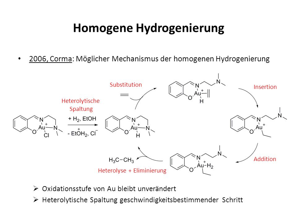 Homogene Hydrogenierung