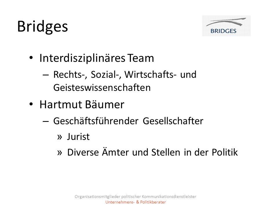 Bridges Interdisziplinäres Team Hartmut Bäumer