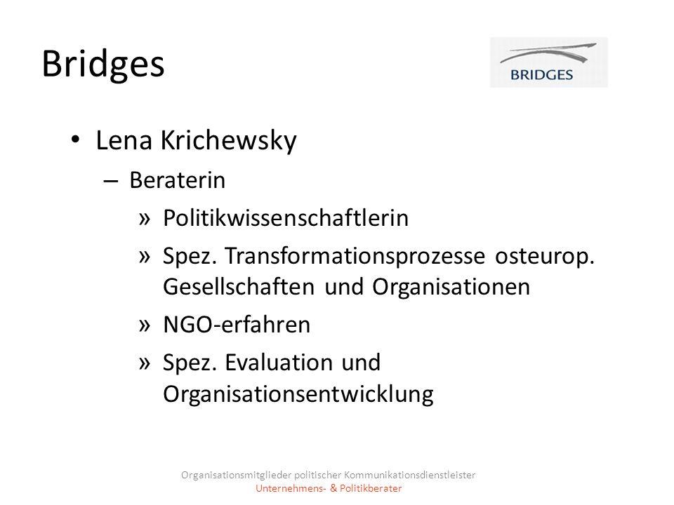 Bridges Lena Krichewsky Beraterin Politikwissenschaftlerin