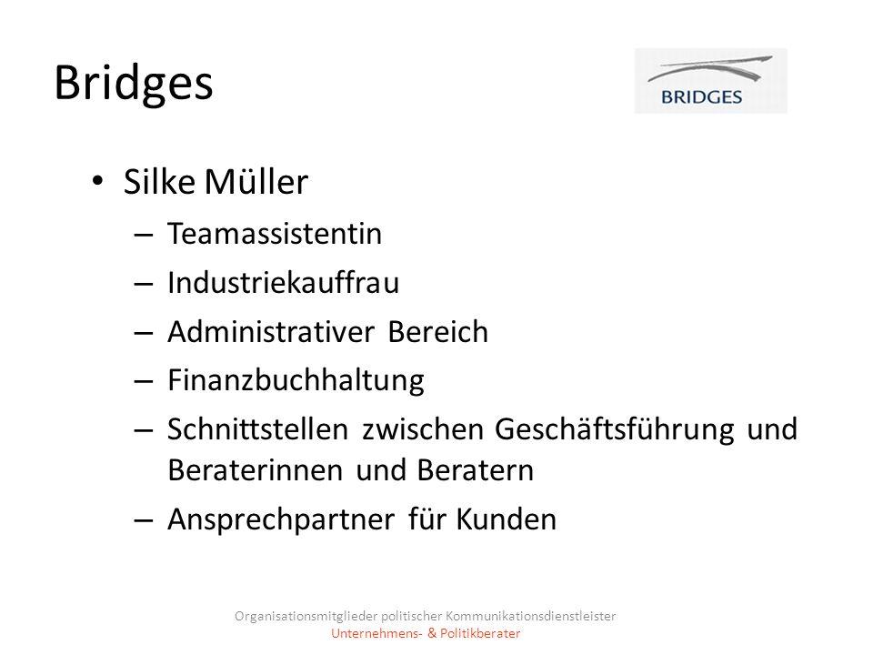 Bridges Silke Müller Teamassistentin Industriekauffrau