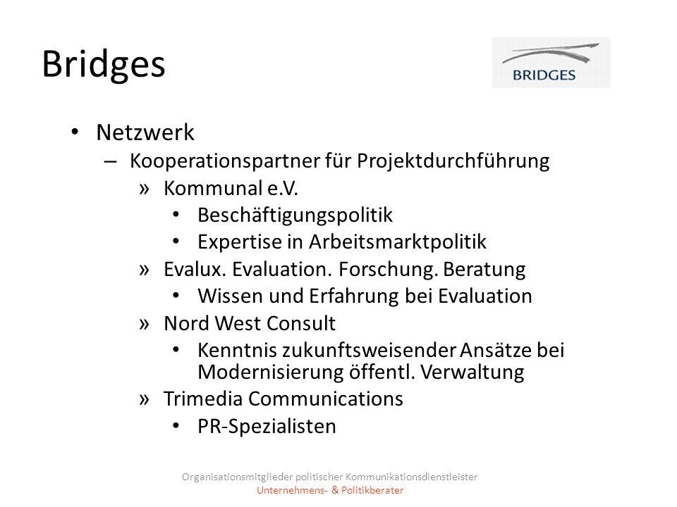Bridges Netzwerk Kooperationspartner für Projektdurchführung