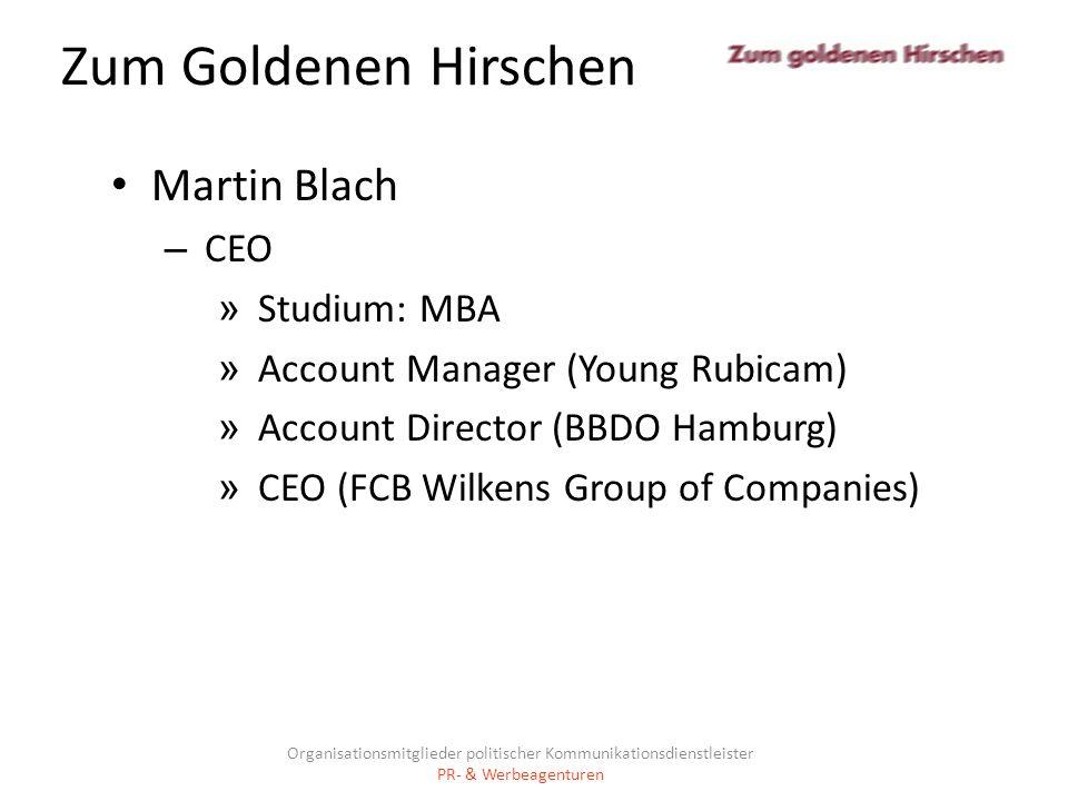 Zum Goldenen Hirschen Martin Blach CEO Studium: MBA