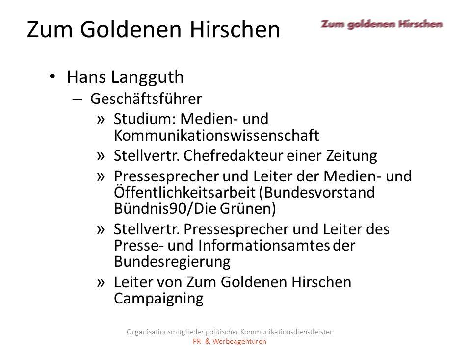 Zum Goldenen Hirschen Hans Langguth Geschäftsführer