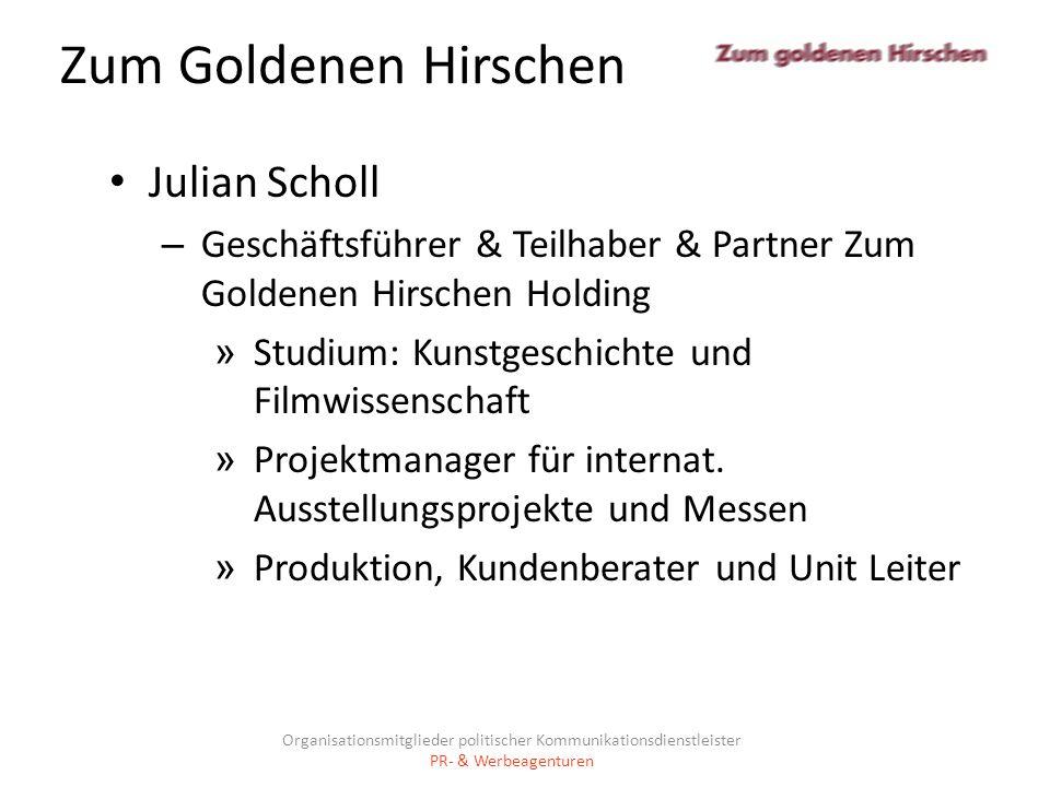 Zum Goldenen Hirschen Julian Scholl