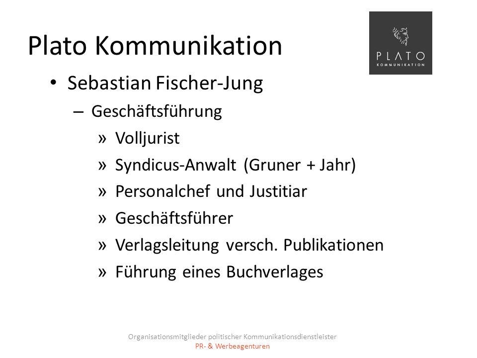 Plato Kommunikation Sebastian Fischer-Jung Geschäftsführung Volljurist