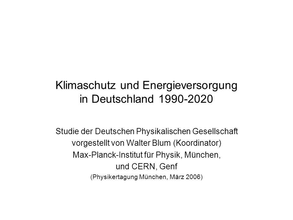 Klimaschutz und Energieversorgung in Deutschland 1990-2020