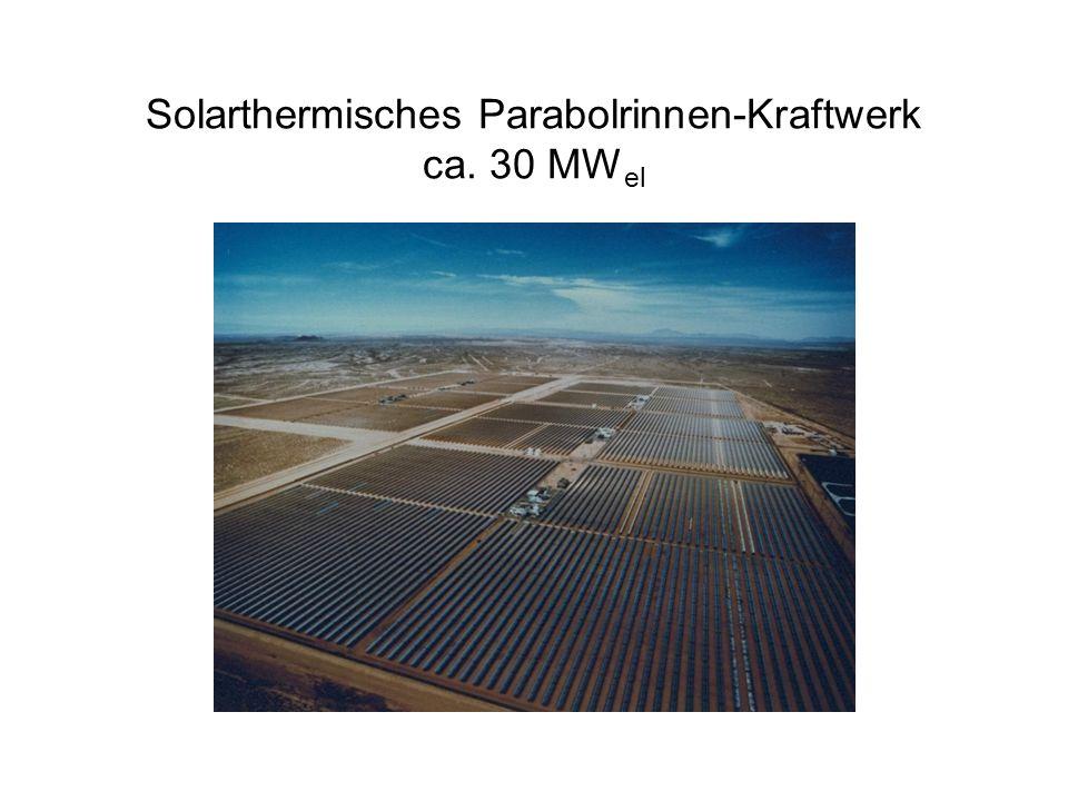 Solarthermisches Parabolrinnen-Kraftwerk ca. 30 MWel