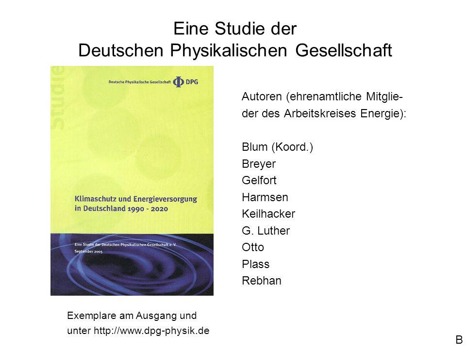 Eine Studie der Deutschen Physikalischen Gesellschaft