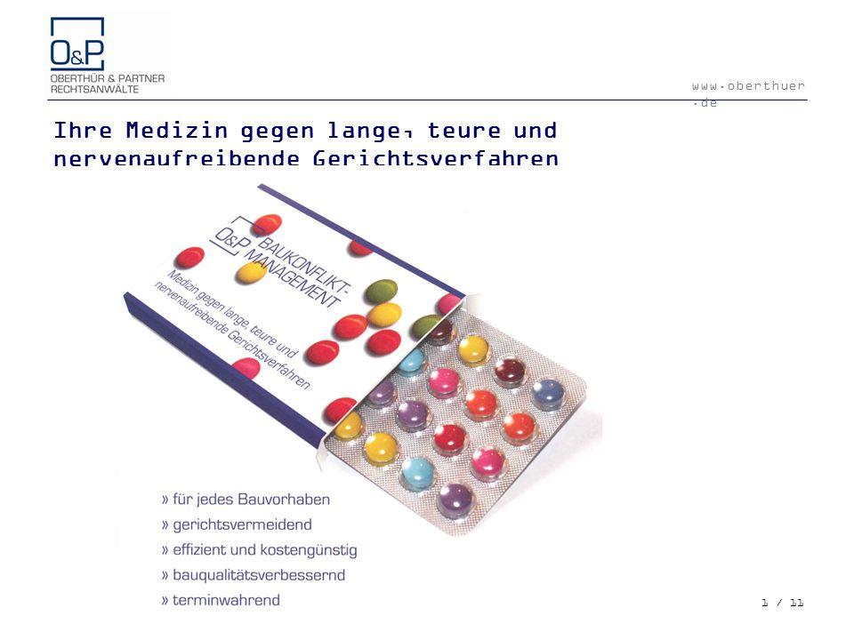 Ihre Medizin gegen lange, teure und nervenaufreibende Gerichtsverfahren