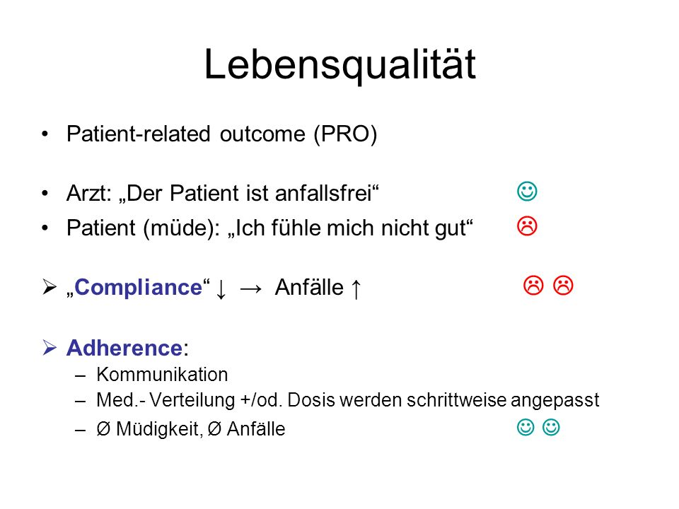 Lebensqualität Patient-related outcome (PRO)