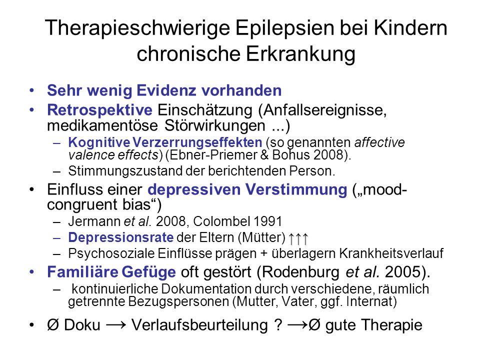 Therapieschwierige Epilepsien bei Kindern chronische Erkrankung