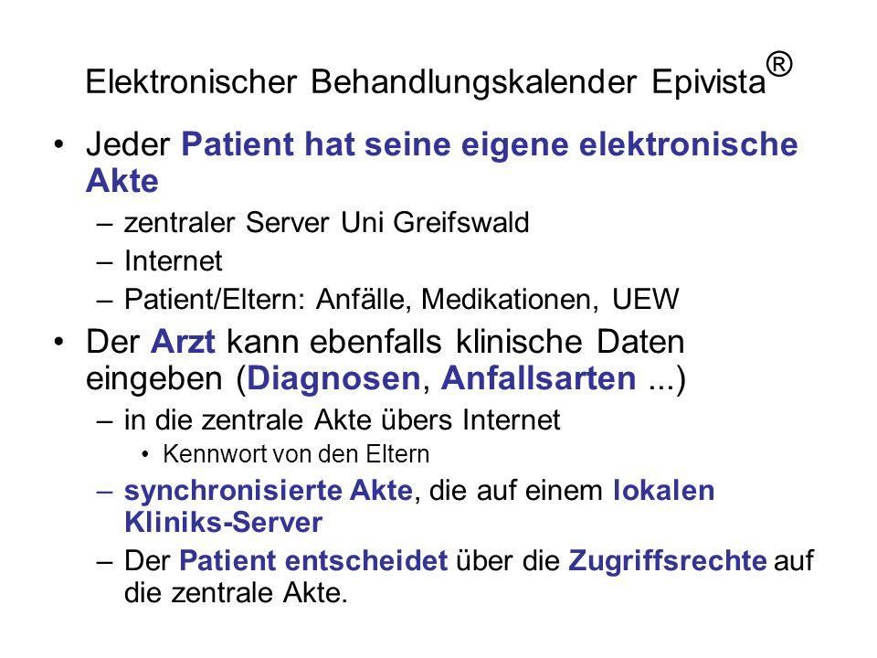 Elektronischer Behandlungskalender Epivista®