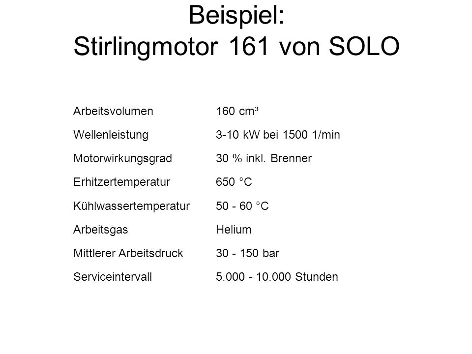 Beispiel: Stirlingmotor 161 von SOLO