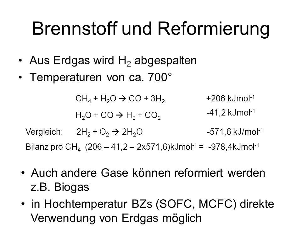 Brennstoff und Reformierung