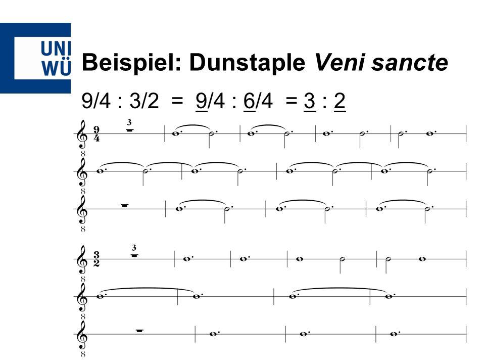 Beispiel: Dunstaple Veni sancte