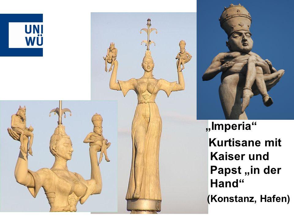 """Kurtisane mit Kaiser und Papst """"in der Hand"""