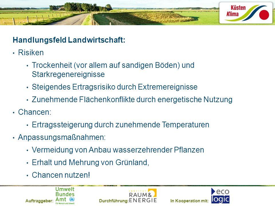 Handlungsfeld Landwirtschaft: