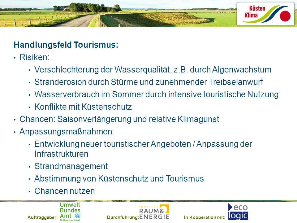 Handlungsfeld Tourismus: