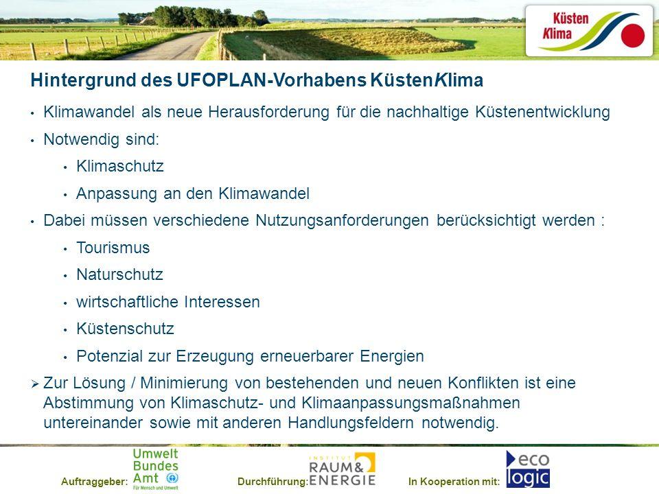 Hintergrund des UFOPLAN-Vorhabens KüstenKlima