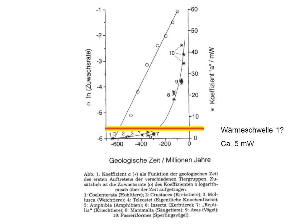 Wärmeschwelle 1 Ca. 5 mW