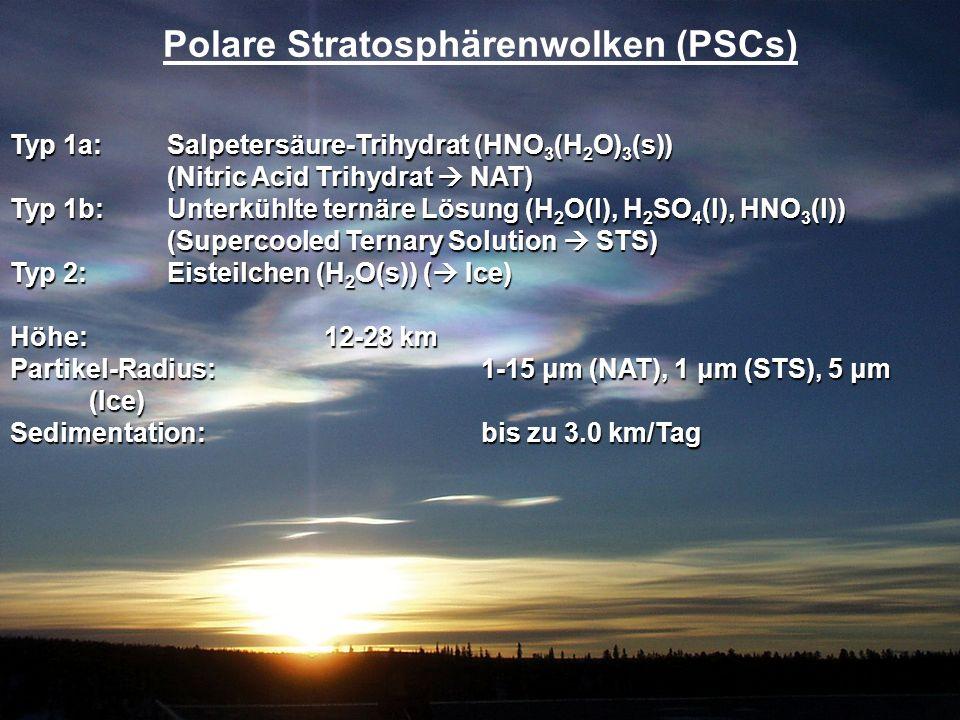 Polare Stratosphärenwolken (PSCs)