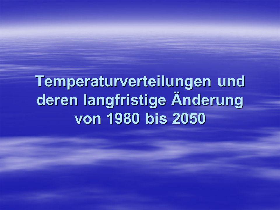 Temperaturverteilungen und deren langfristige Änderung von 1980 bis 2050