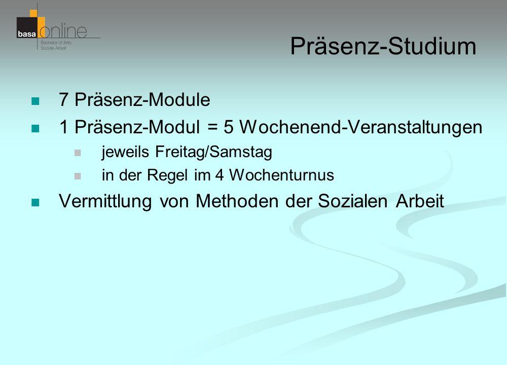 Präsenz-Studium 7 Präsenz-Module