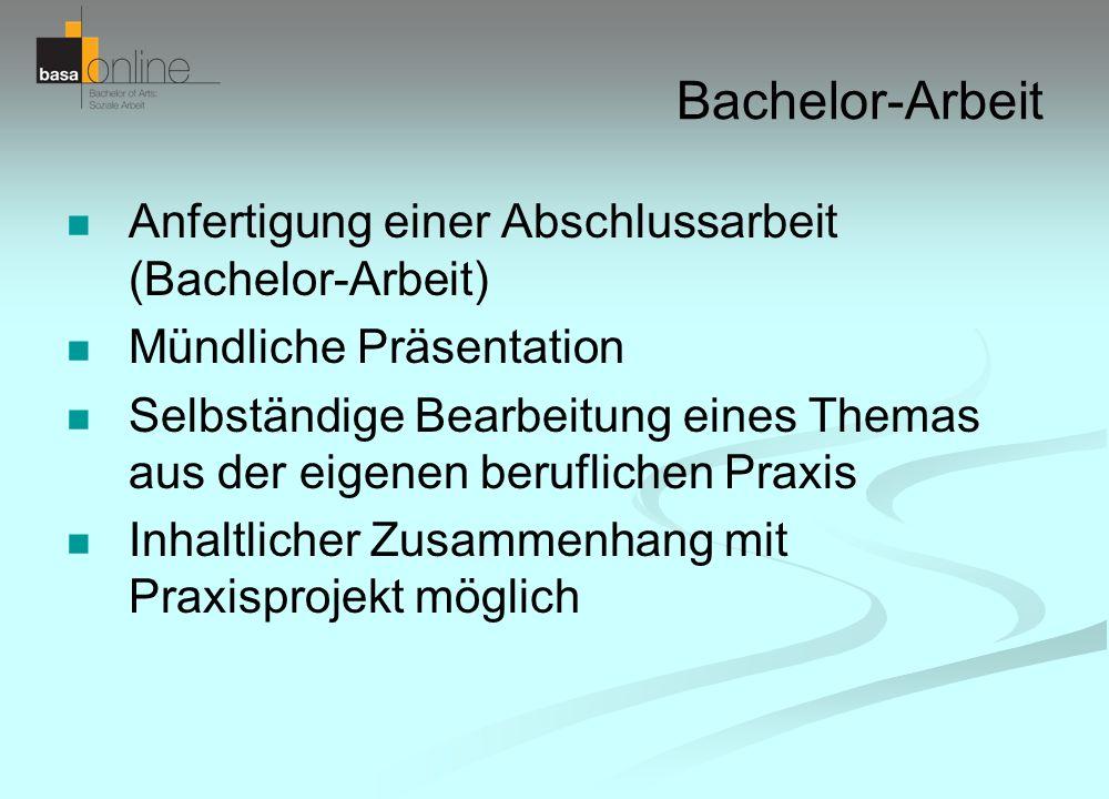 Bachelor-Arbeit Anfertigung einer Abschlussarbeit (Bachelor-Arbeit)