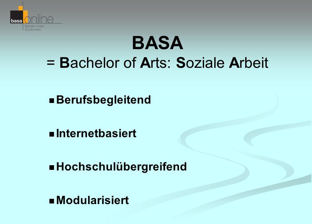 BASA = Bachelor of Arts: Soziale Arbeit