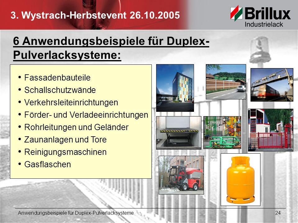 6 Anwendungsbeispiele für Duplex-Pulverlacksysteme: