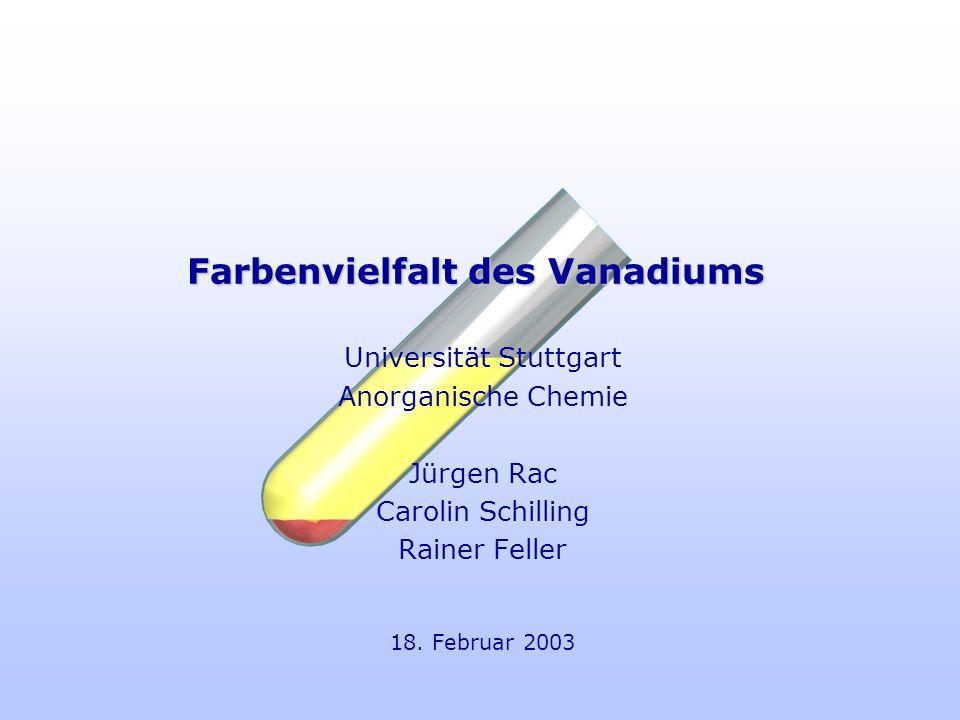 Farbenvielfalt des Vanadiums