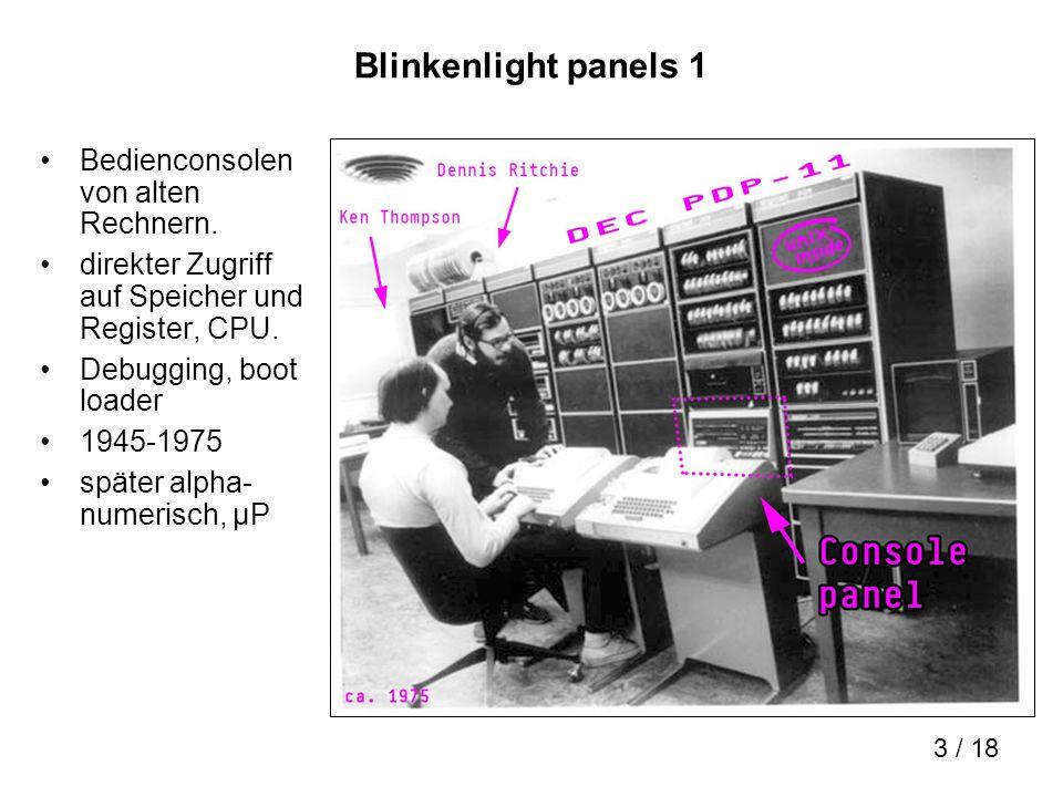 Blinkenlight panels 1 Bedienconsolen von alten Rechnern.