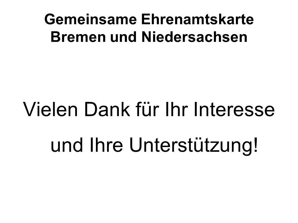 Gemeinsame Ehrenamtskarte Bremen und Niedersachsen