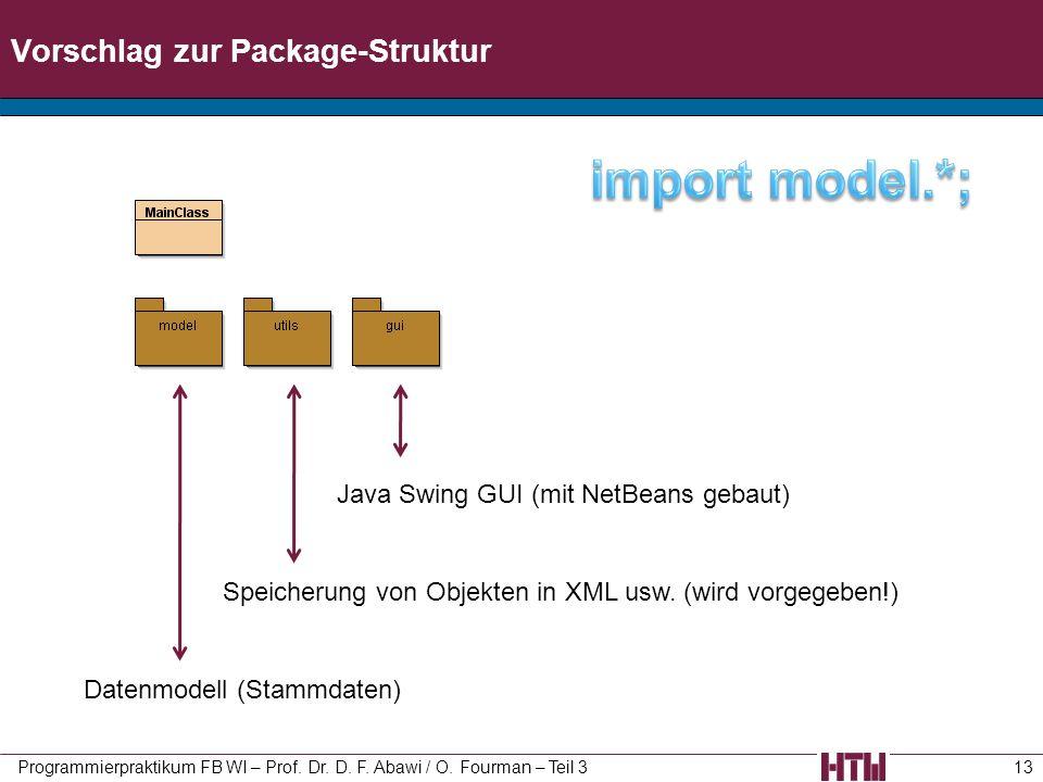 Vorschlag zur Package-Struktur